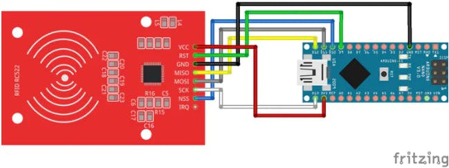 Circuit Diagram for the RFID
