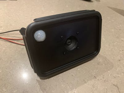 Halloween PIR Proximity Scare Speaker with Lighting Effects