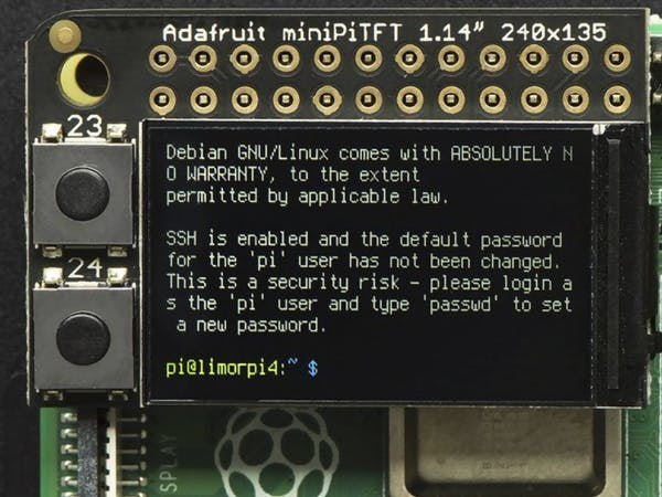 Adafruit Shrinks the PiTFT, Releases 1.14-inch Mini PiTFT Display for the Raspberry Pi