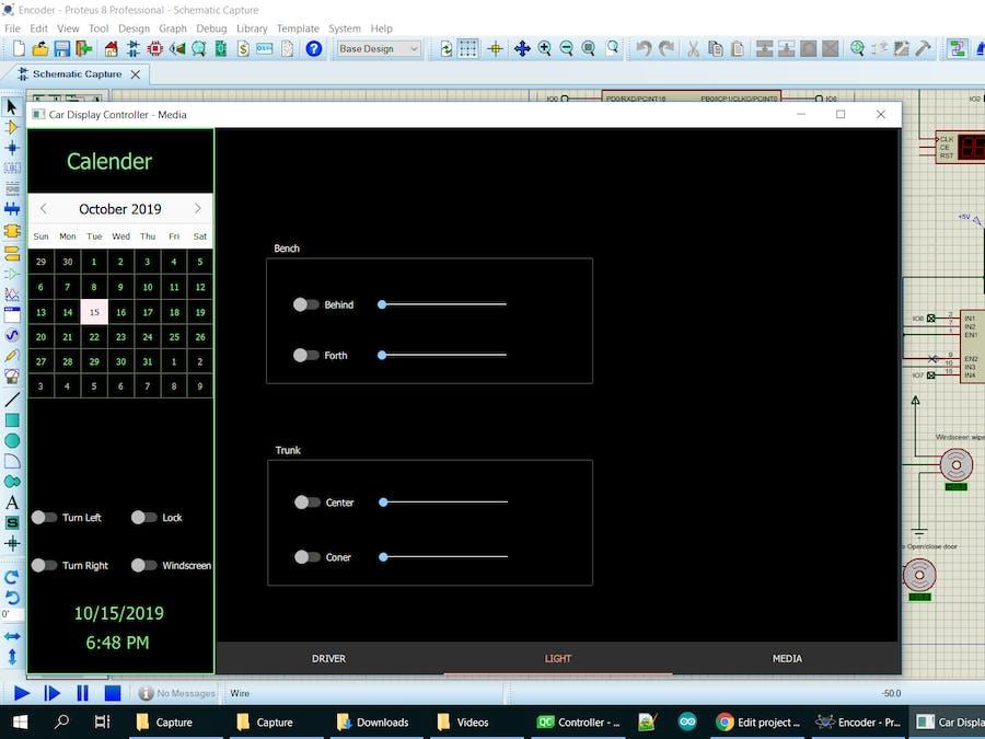 QT Framework Display Motor Speed Simulator by Proteus