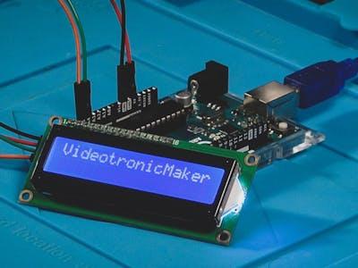 I2C 1602 LCD - Arduino Uno - Display Text via Serial Monitor