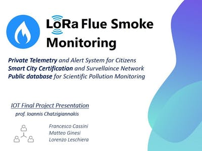 LoRa Flue Gas Monitoring System