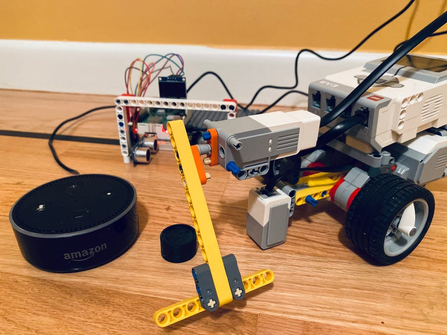 Hockey Bot - A Lego Mindstorms EV3 Robot controlled by Alexa