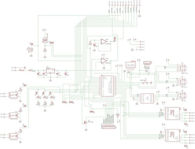 The circuit diagram of the motherboard