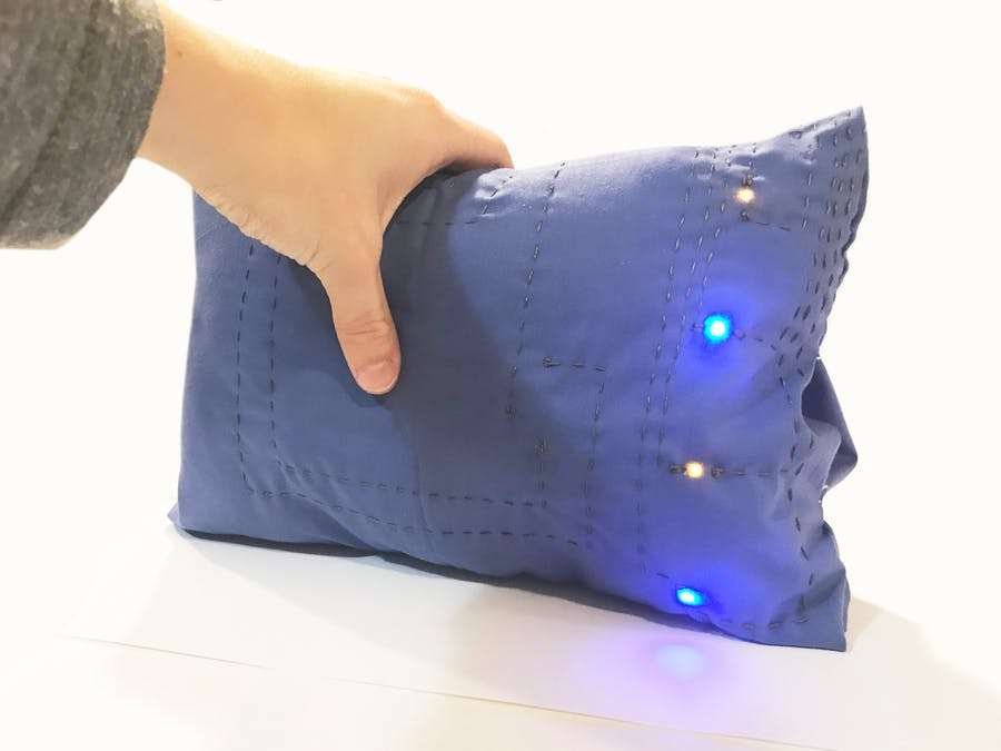 Glow Pillow with Force Sensing Resistor