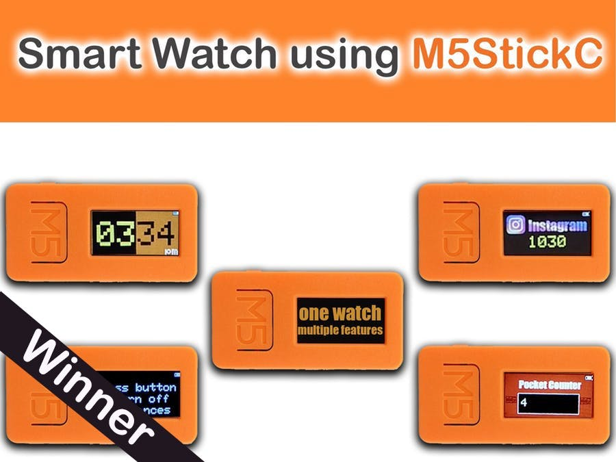 One Watch, Multiple features, Smart Watch Using M5Stick C