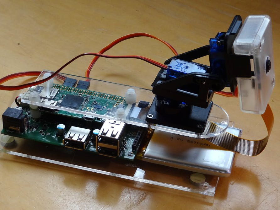 Webcam with Pan/Tilt Servos and Battery Backup