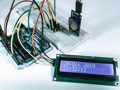 Display Time Date-I2C LCD and DS3231 Real Time Clock-Visuino