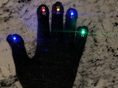 LED Illuminating Glove