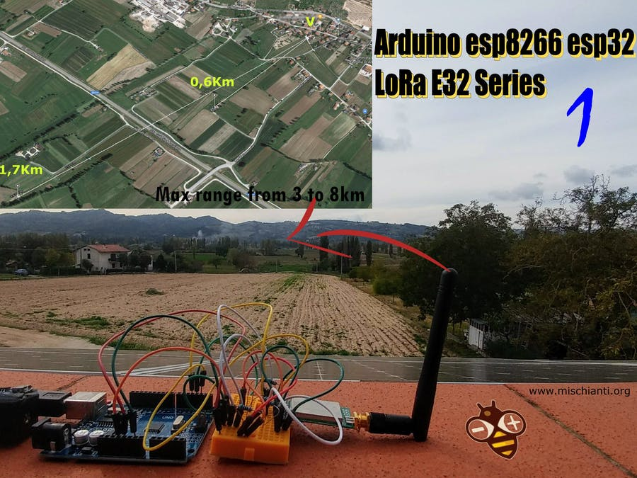 LoRa E32 for Arduino, ESP32 or ESP8266: Specs and Base Use
