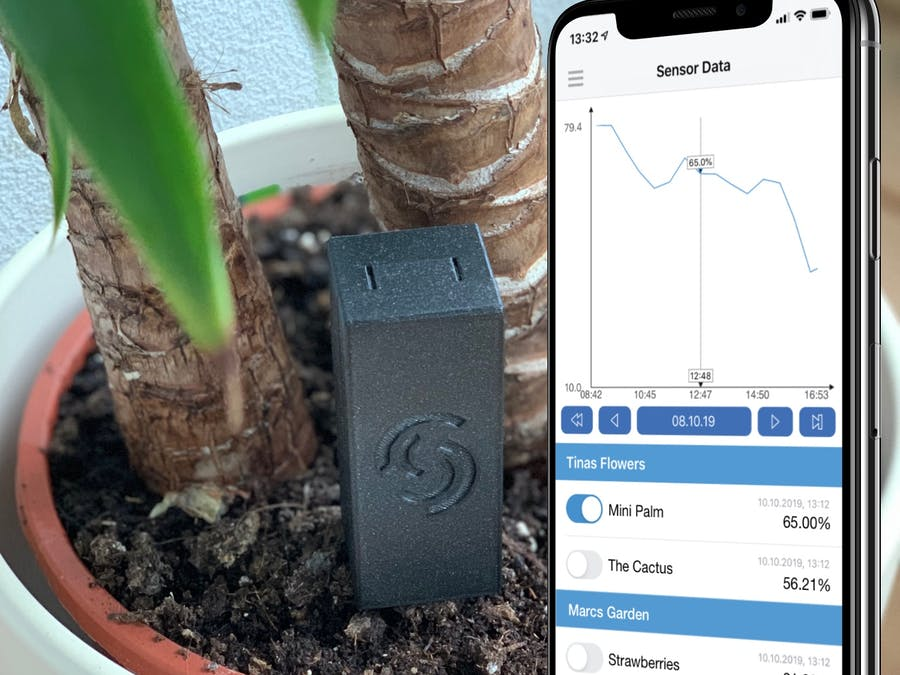 Smart Plant Watering Assistant, Battery-Powered