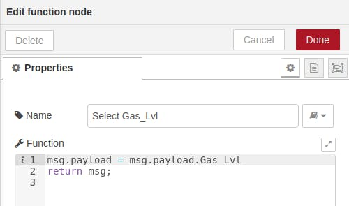 Select Gas_Lvl from JSON