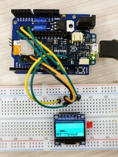 """Arduino MKR Zero + Generic 0.96"""" OLED module"""