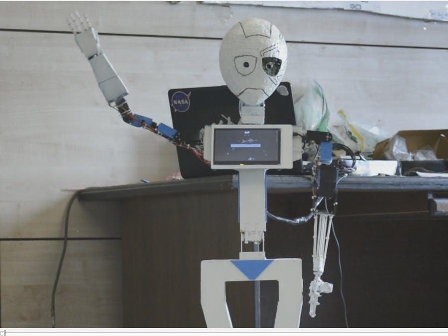 MIA-1 Open Source Advanced Handmade Humanoid Robot!