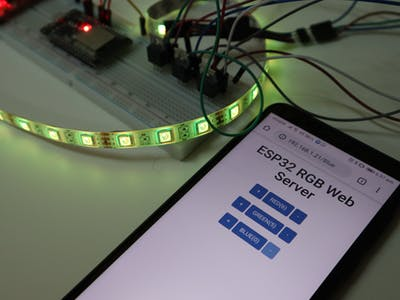 Controlling RGB Lights From ESP32 Web Server