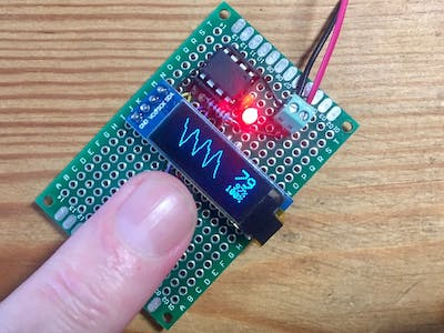 ATtiny85 Pulse Oximeter and Photoplethysmograph