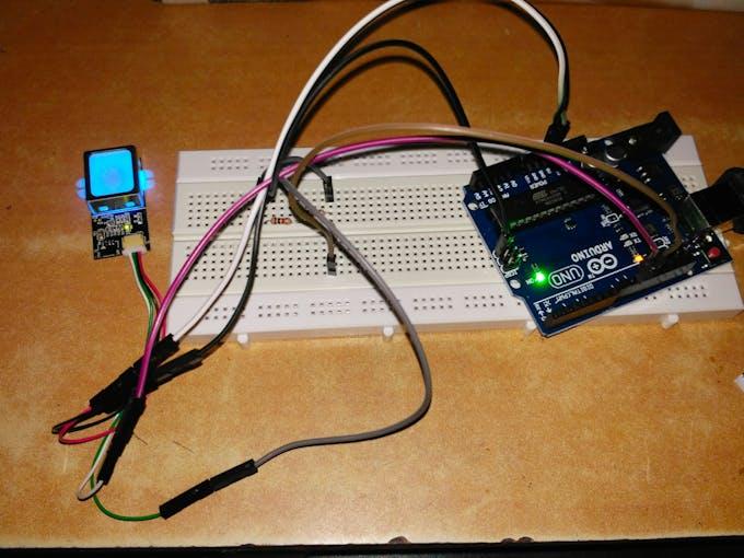 Fingerprint module interfacing with Arduino uno