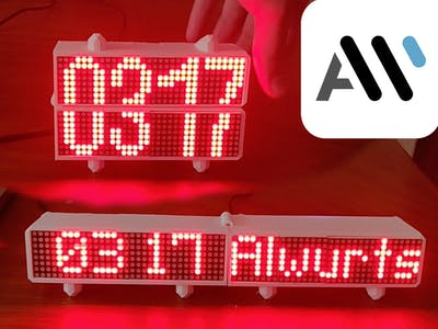 IoT Convertible LED Matrix Clock