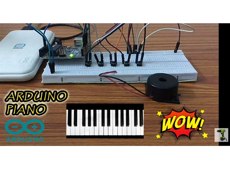 DIY PIANO || Arduino Piano DIY || Piano with Tactile Buttons
