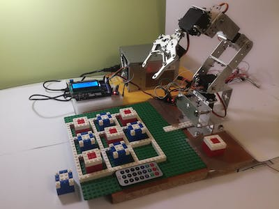 Robotic Arm Plays Tic-Tac-Toe