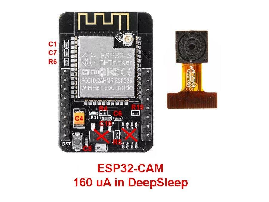 ESP32-CAM Current Measure