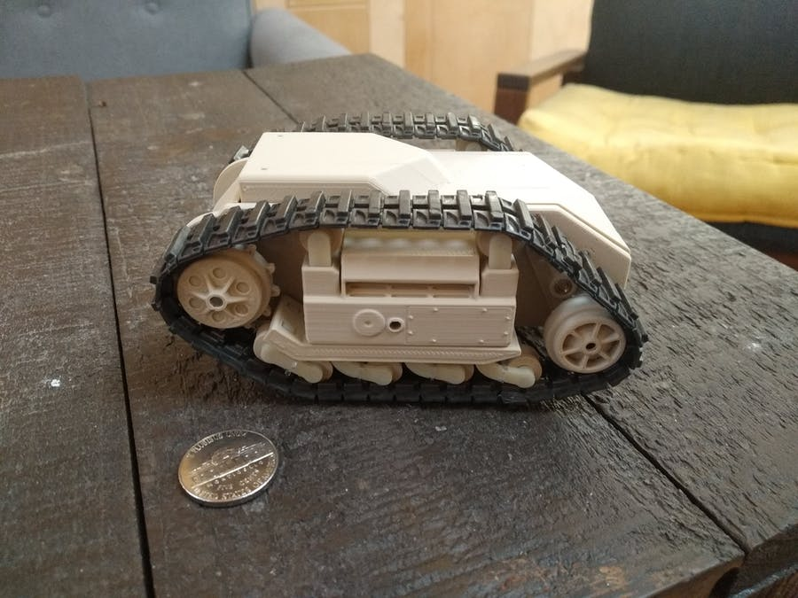 3D Printed 1/125 Scale Goliath Tracked Mine Tank w/ BLE