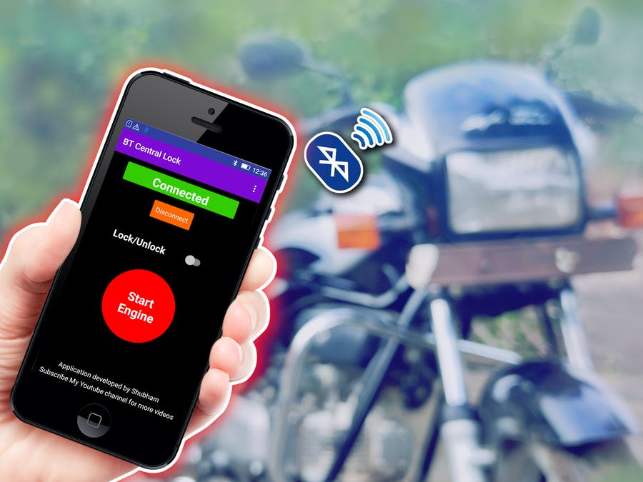 How to Make a Smart Central Lock System for Motorcycle