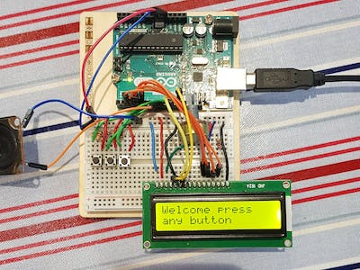 Make a Christmas Song Player with a Buzzer and LCD Display