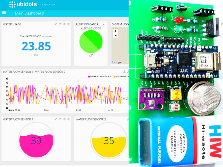 Smart Home Safety Monitor System using Arduino & Ubidots