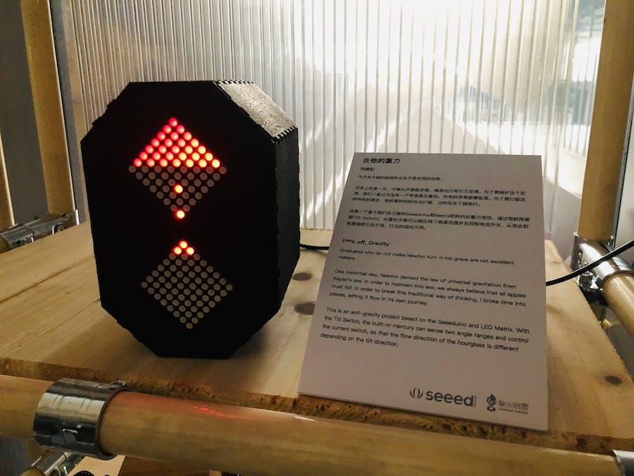 Anti-Gravity LED Matrix Hourglass