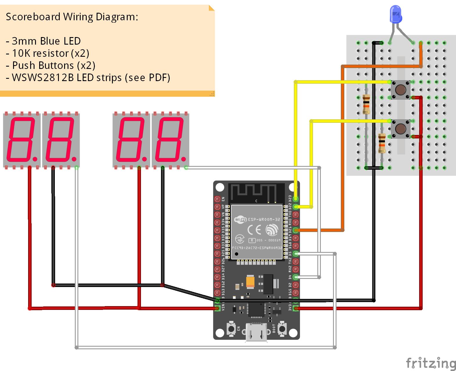 [QMVU_8575]  ESP32 - 7 Segment Scoreboard - Hackster.io | Scoreboard Wiring Diagrams |  | Hackster.io