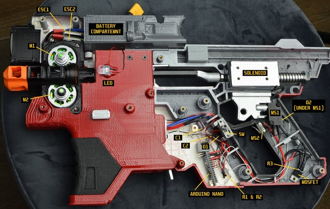 Overall Electrical Layout of Kang Tao Blaster (Your layout will differ depending on the Blaster)