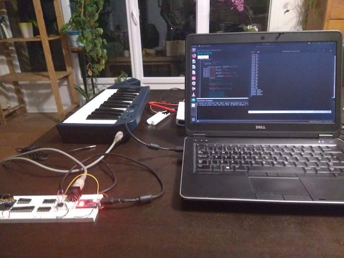 First prototype test setup