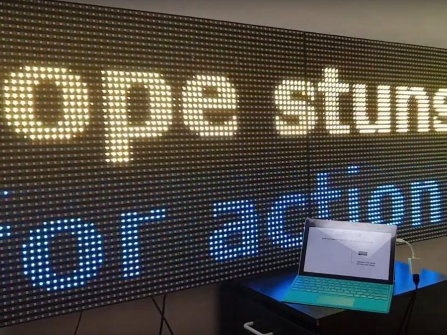 Professional Digital Signage on DIY Video LED Displays