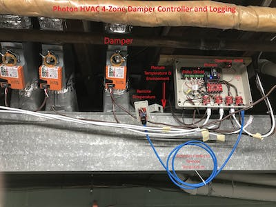 Photon HVAC 4-Zone Damper Controller and Logging