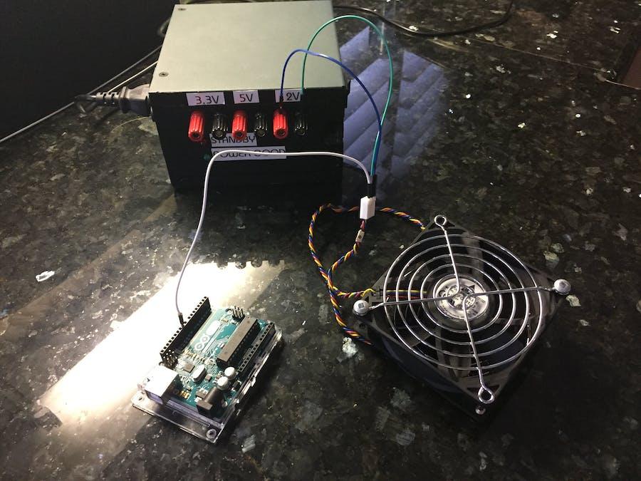 25 kHz 4 Pin PWM Fan Control with Arduino Uno