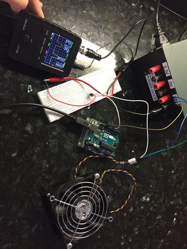 The oscilloscope makes quick work when analyzing the pulses.