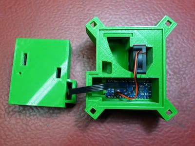 PPD42NS Arduino Air Quality Monitor in 3D Printed Enclosure