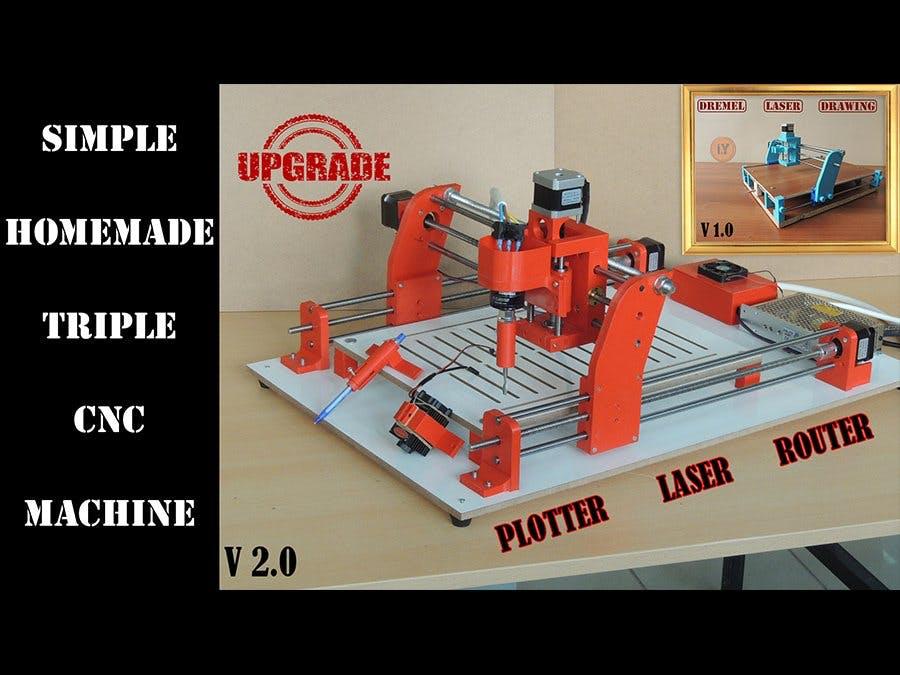 Triple CNC Machine - UPGRADE Version