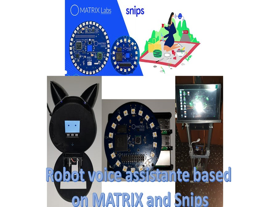 Robot voice assistante based on MATRIX and Snips