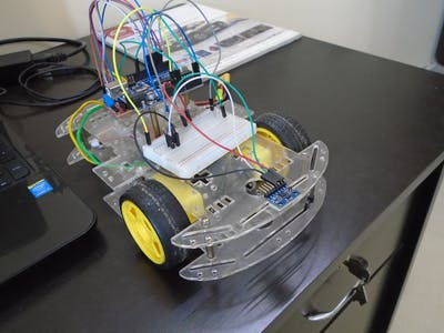 Simple MPU6050 IMU + Arduino bot