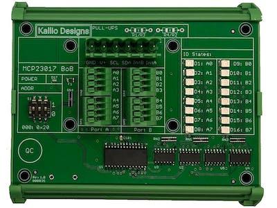 MCP23017 GPIO Control via Ethernet