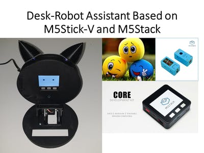 Desk-Robot Assistant Based on M5Stick-V and M5Stack