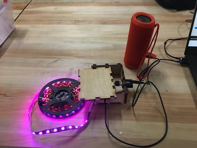 Pocketbeagle LED Music Visualizer