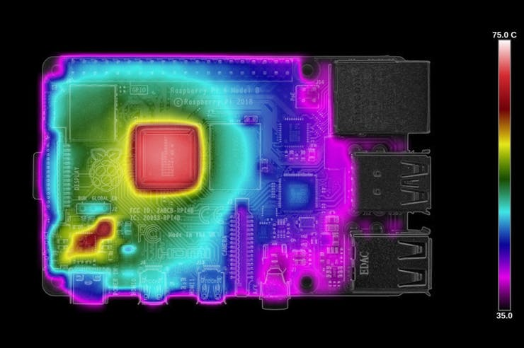 Raspberry Pi 4B SDRAM firmware - 60 seconds of load. (📷: Gareth Halfacree)