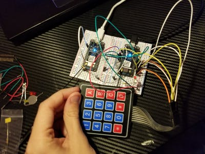 Keypad Controlled LED
