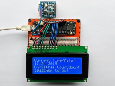 Christmas Countdown Timer w/ an LCD Display, RTC and Meadow