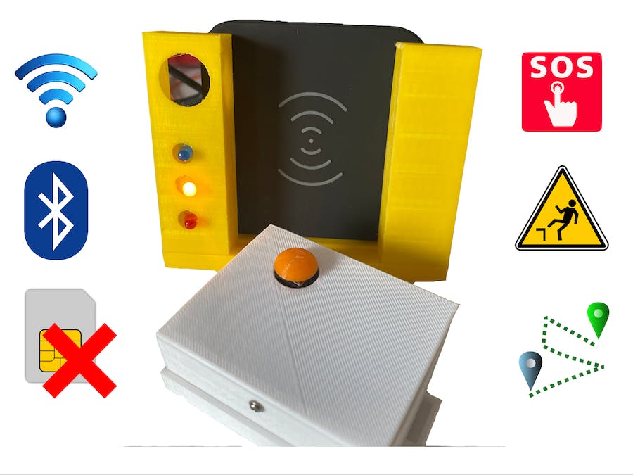 Fall Detection Wearable+Panic Button+Indoor tracking