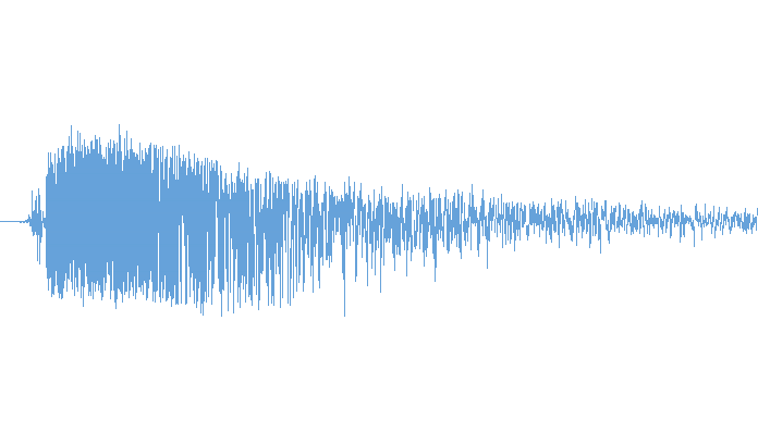 Audio waveform of a gunshot