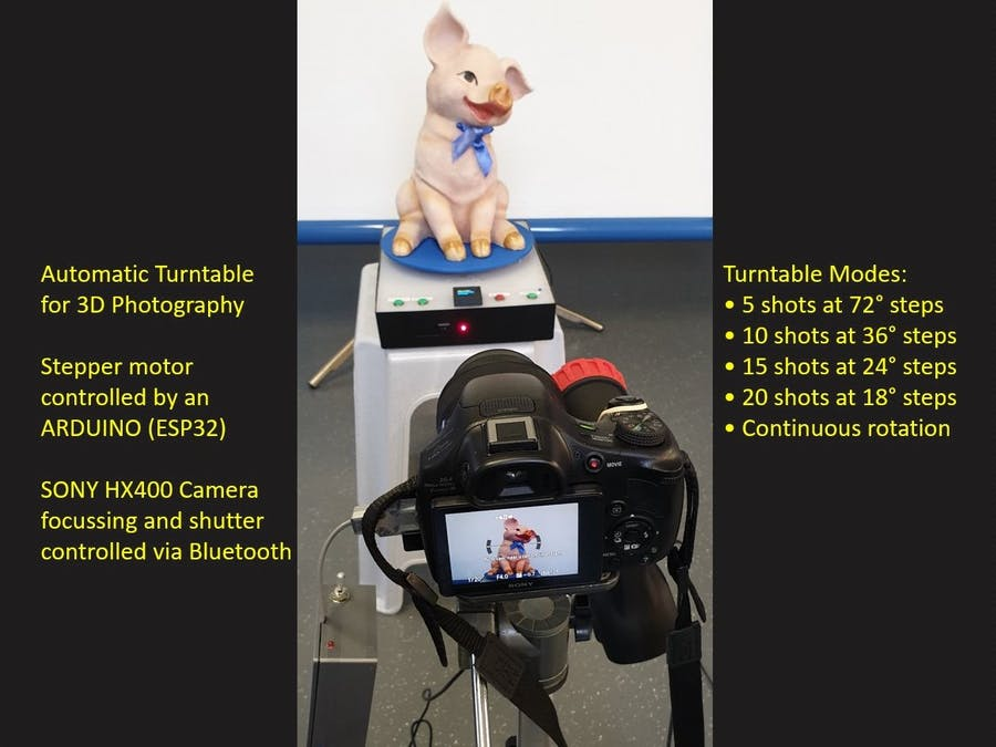 Arduino controlled Turntable for 3D Photography